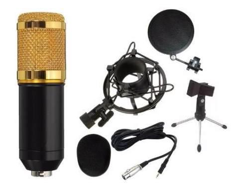 Micrófono Bm800 Metal No Plástico Tripie Y Antipop De Metal en Web Electro