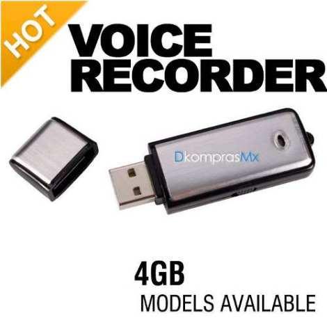 Mini Grabadora Espia Microfono Oculto + Memoria Usb 4gb 240