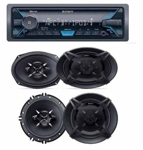 Paquete Autoestereo Sony Bluetooth Usb Bocinas 6.5 Y 6×9 en Web Electro