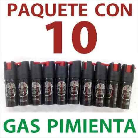 Paquete De 10 Mini Gas Pimienta Lacrimogeno Defensa Personal en Web Electro