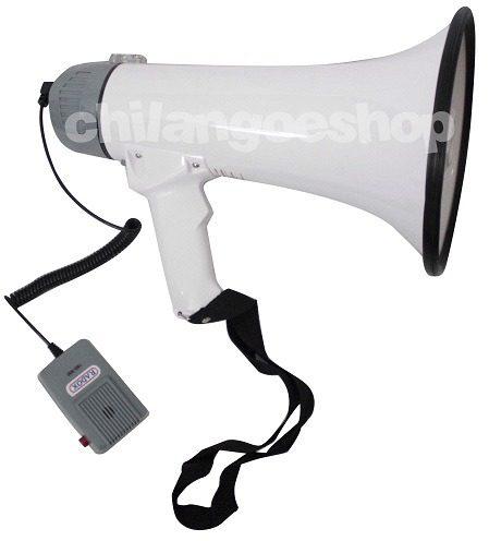 Potente Megáfono Con Micrófono Incluido Y Sirena