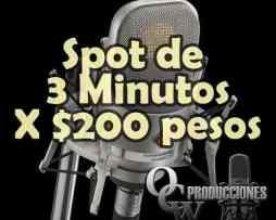 Spots Publicitarios Radio Y Perifoneo 3 Minutos X 200 Pesos