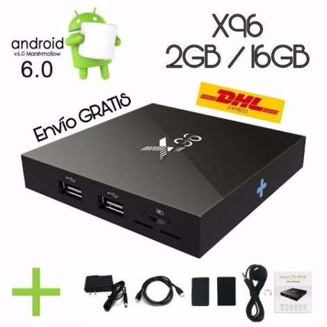 X96 Tv Box / 2 Ram / 16gb / Android 6 / Extension Ir Soporte