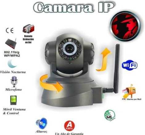 Camara Ip Wifi Vigilancia 32 Gb Alarma En Celular Y Tablet