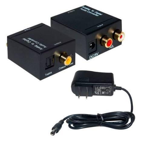 Convertidor De Audio Analogo A Digital De Rca A Toslink