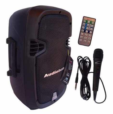 Bocina 8 Amplificada Recargable Bluetooth Bafle Audiobahn