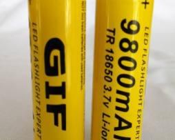 2 Bateria Mod.18650 Pila 9800 Mah Litio-ion 3.7v Recargables
