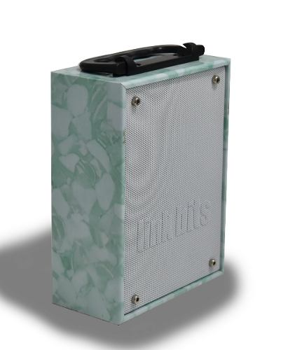 Bocina Portatil  Linkbits B03010 Reproductor Mp3 Fm Verde