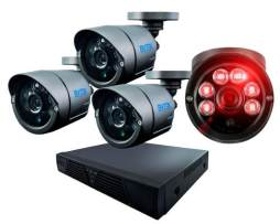Kit Cctv 4 Camaras Ahd 1.3 Mp  2200 Tvl Dvr Digital.