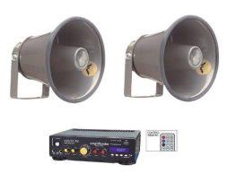 Kit Perifoneo Voceo Amplificador Usb Mas 2 Trompetas 800w