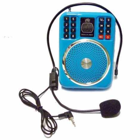 Bocina Megafono Con Diadema/microfono/usb/sd/fm/aux Rm865