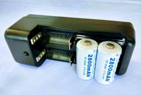 Cargador + 2 Baterias 123
