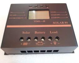 Controlador 80a Regulador 80amp P Panel Solar 12/24v Bateria