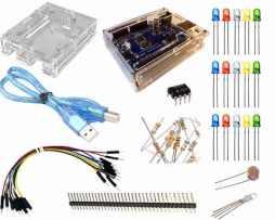 Kit Básico Arduino Uno R3 Acrilico Leds Resistencias Ldr 555