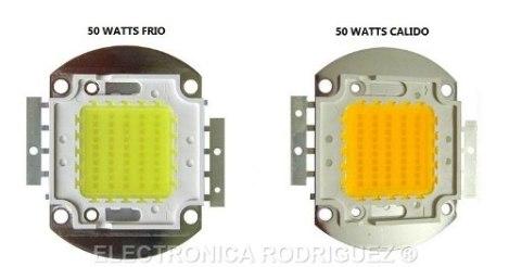 Led De Potencia 50 Watts Blanco Calido Smd Power Led 32v 50w