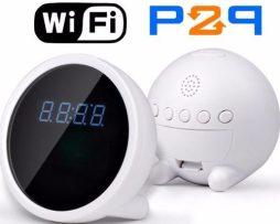Reloj Despertador Camara Espia Wifi P2p Andorid Iphone Te136