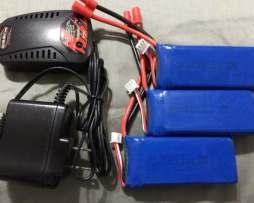 Syma X8c X8w 3 Bateria Lipo Y Un Cargador 7.4v 2000mah