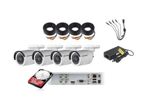 Kit Circuito Cerrado 4 Cámaras Hd Cctv 1 Mp Hikvision 500gb