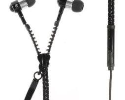 Manos Libres Audifonos Cierre Zipper Colores Plug 3.5mm Caja