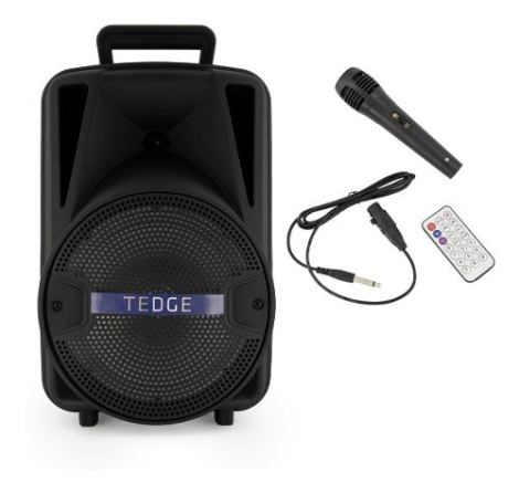 Bocina Bafle Portátil – Tedge – 8 Pulgadas Bluetooth Recargable Con Karaoke