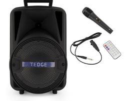 Bocina Bafle Portátil - Tedge - 8 Pulgadas Bluetooth Recargable Con Karaoke