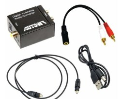 Adaptador Digital Coaxial Con Cable Óptico Toslink Autowt