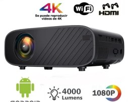 Proyector 3d Android 6.0 4000 Lúmenes Wifi 1080p Hd