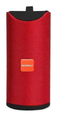 Bocina Moreka Gt-113 Portátil Con Bluetooth Roja