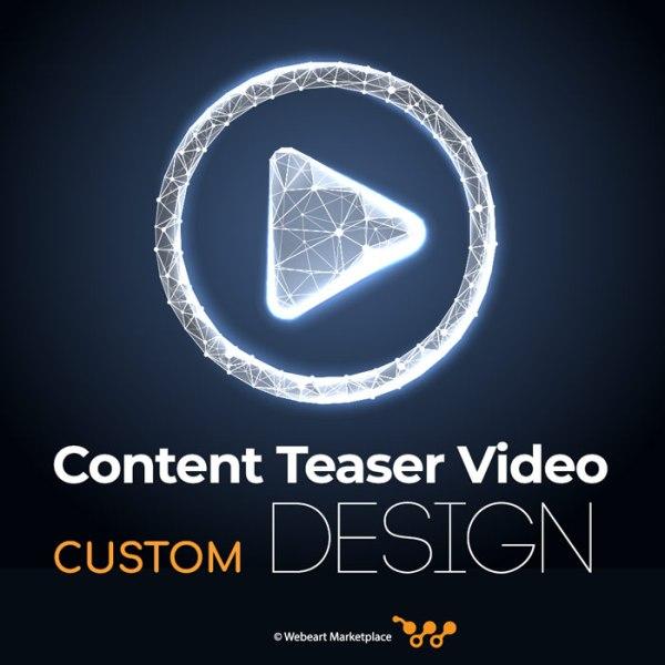 Content Teaser Video Custom Design