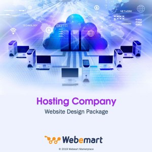 Hosting Company Website Design Package Webemart Marketplace