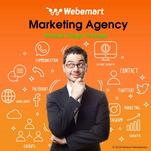 Marketing Agency Website Design Package Webemart Marketplace