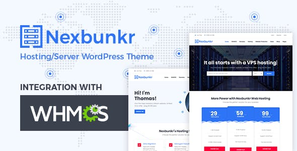 Nexbunker - Hosting/Server WordPress Theme