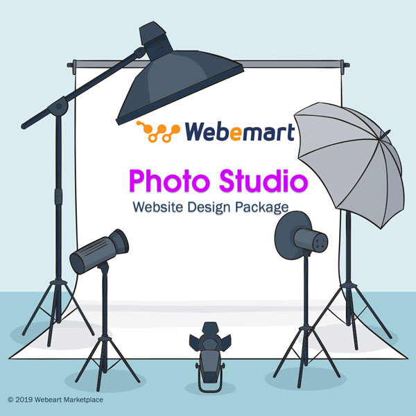 Photo Studio Website Design Package Webemart marketplace