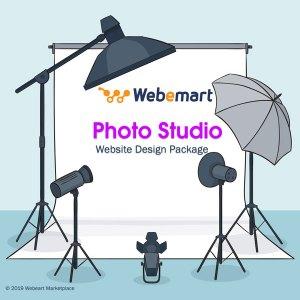 Photo Studio Website Design Package Webemart marketplace