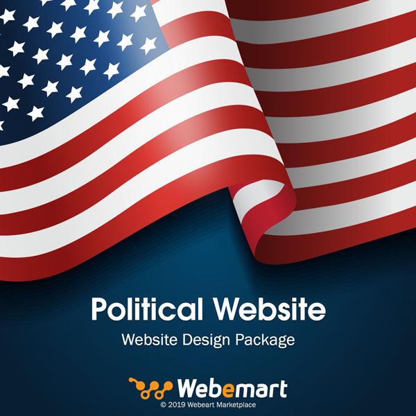 Political Website Design Package Webemart Marketplace