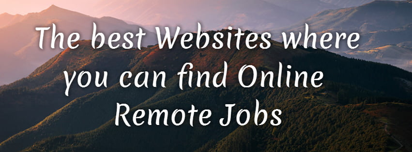 10 Popular Websites where you can find Online Remote Jobs