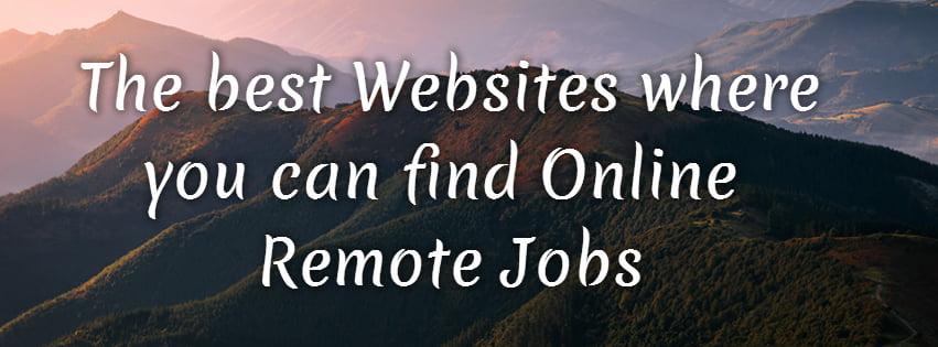 Find online remote jobs