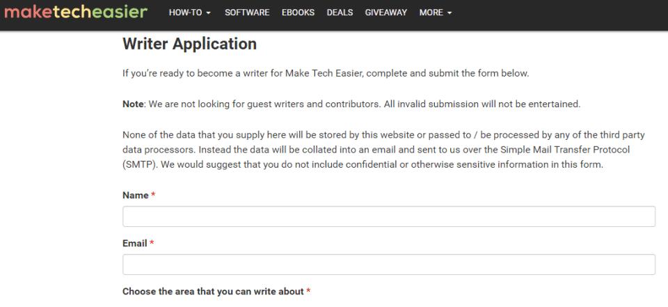 writer application