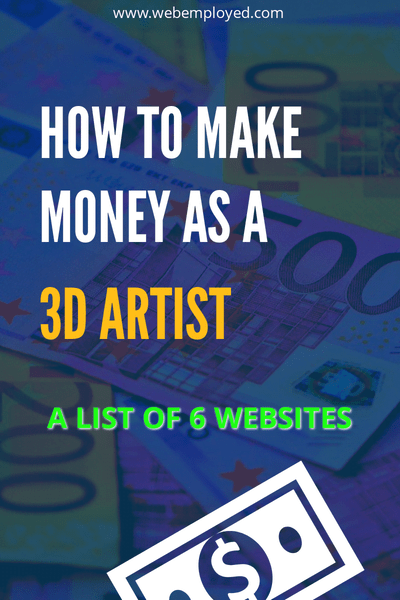 Make money as 3D Artist online