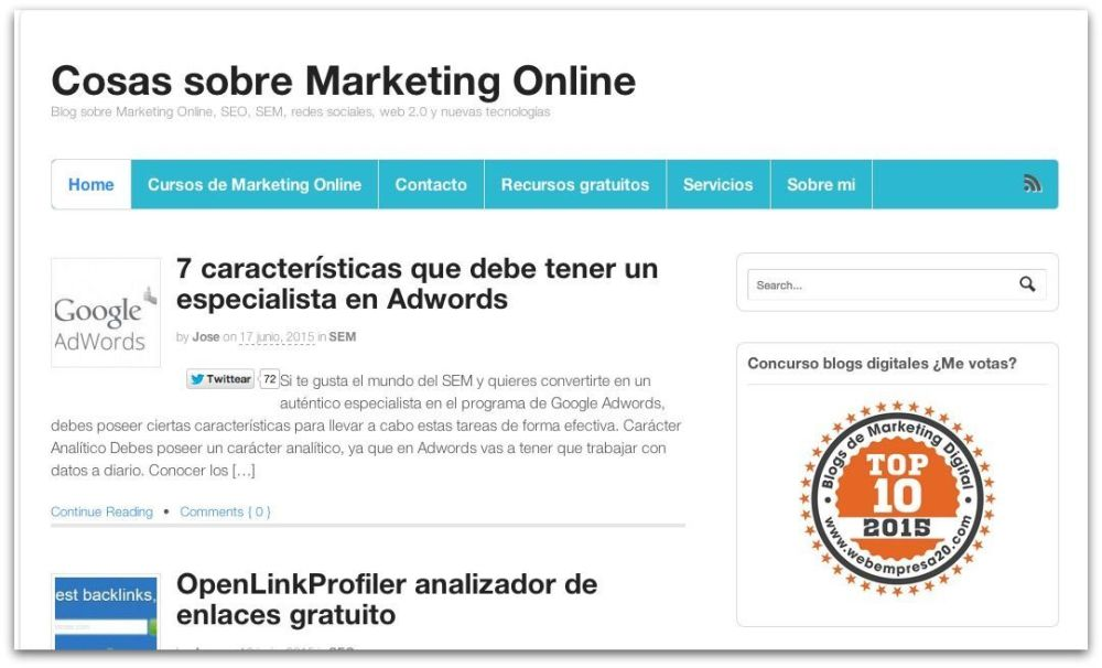 La Aprendiz de Community Manager, uno de los 10 mejores blogs de marketing digital en español 2015 (6/6)