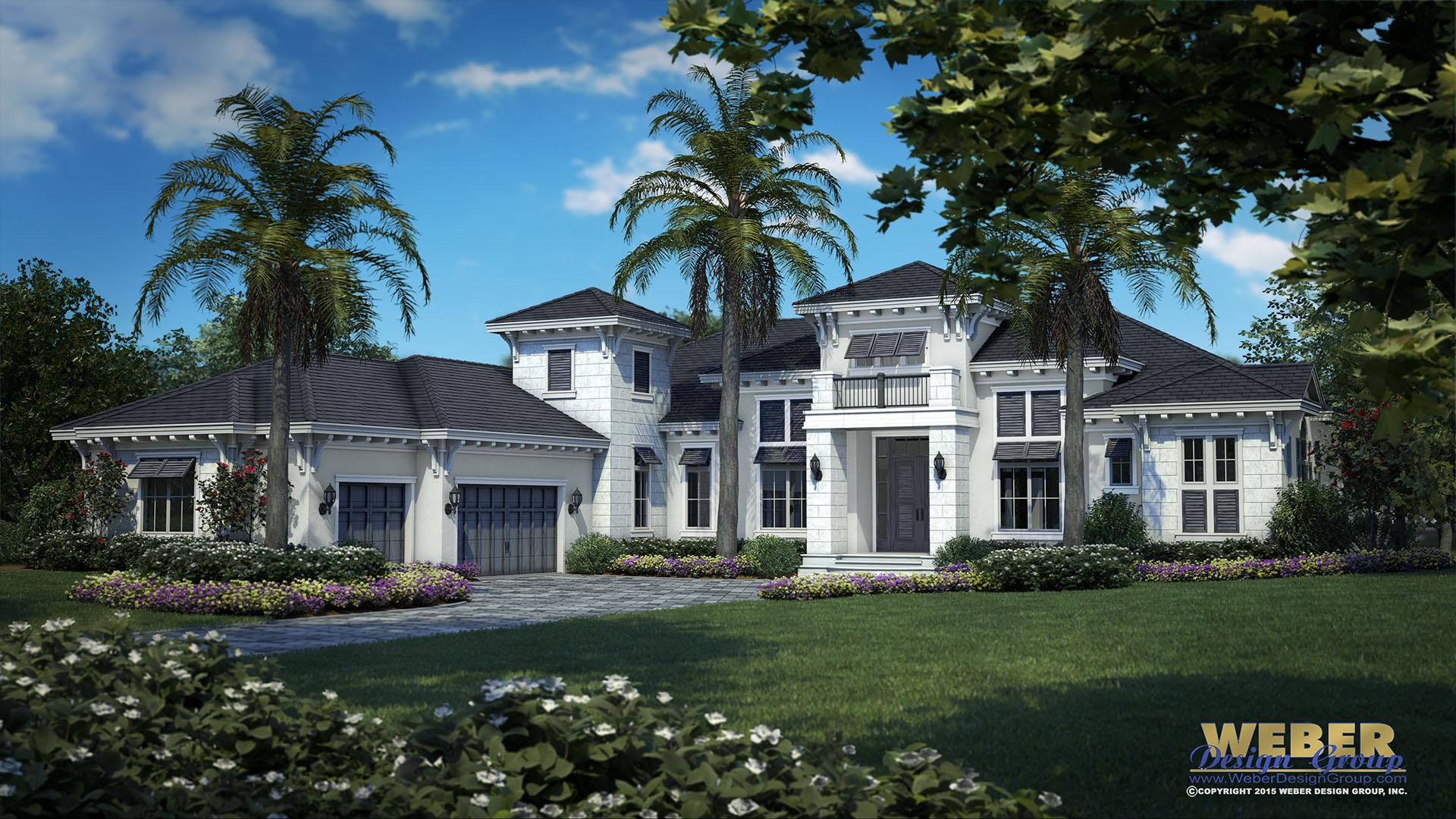 West Indies Home Plan Oyster Bay Model Weber Design Group