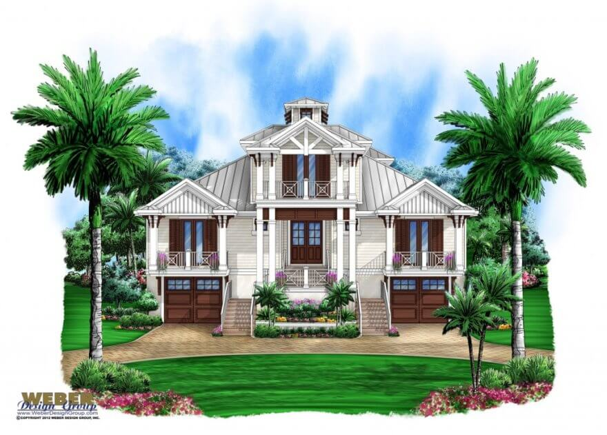 Olde Florida House Plan Perfect For Waterfront Lot Weber