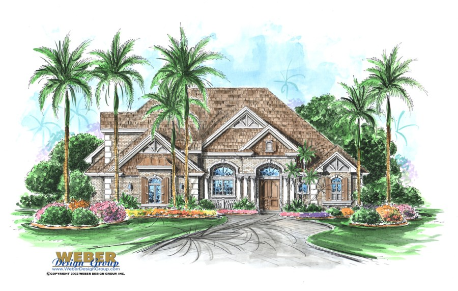 French Colonial House Plans  Colonial Plantation Style Home Plans Stonebridge House Plan