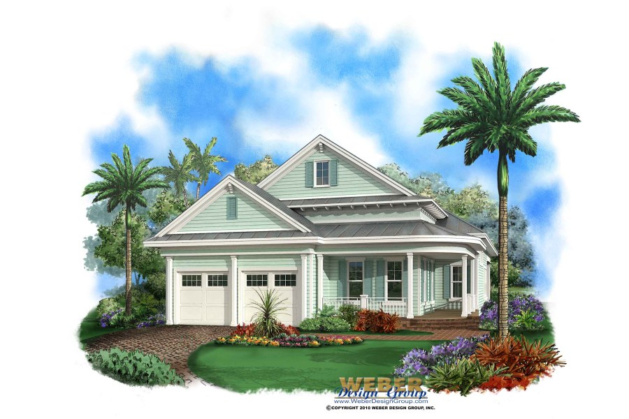 Beach House Plan  Cottage Home Floor Plan for Narrow Coastal Lot