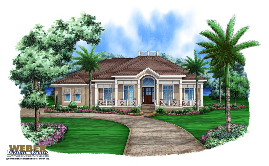 Caribbean House Plans  Tropical Island Style Beach Home Floor Plans Aruba House Plan