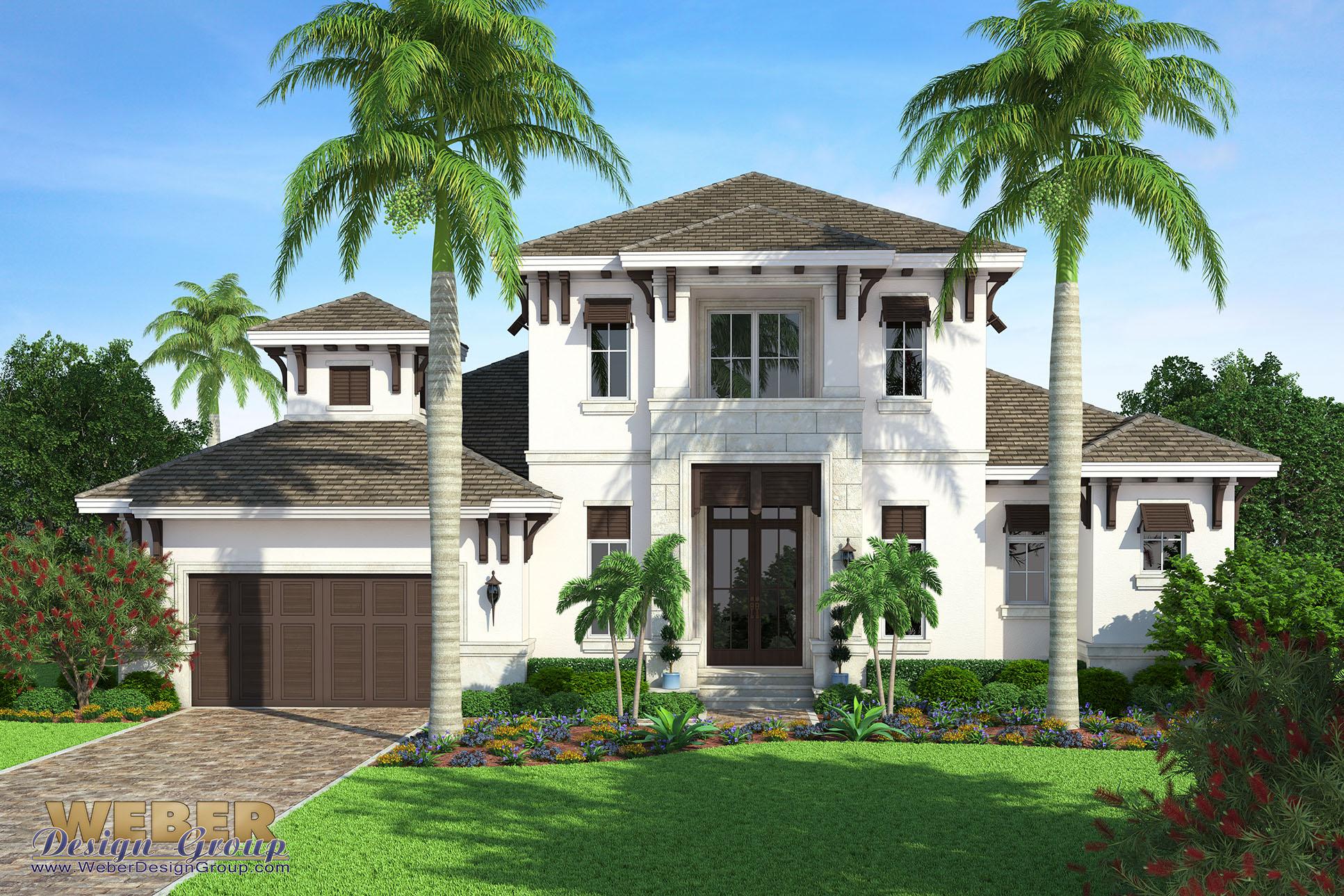 Beach House Plan Transitional West Indies Beach Home