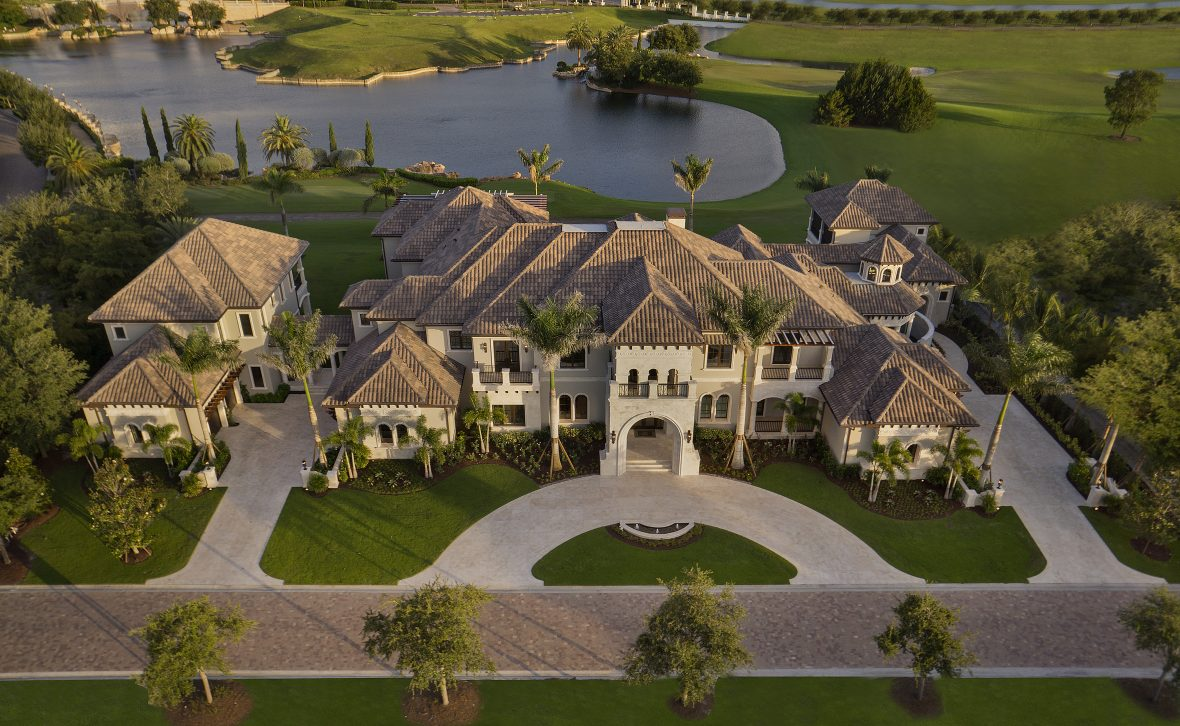 Golf Course Home Plan Photos Of This 20000 SqFt Tuscan Mansion