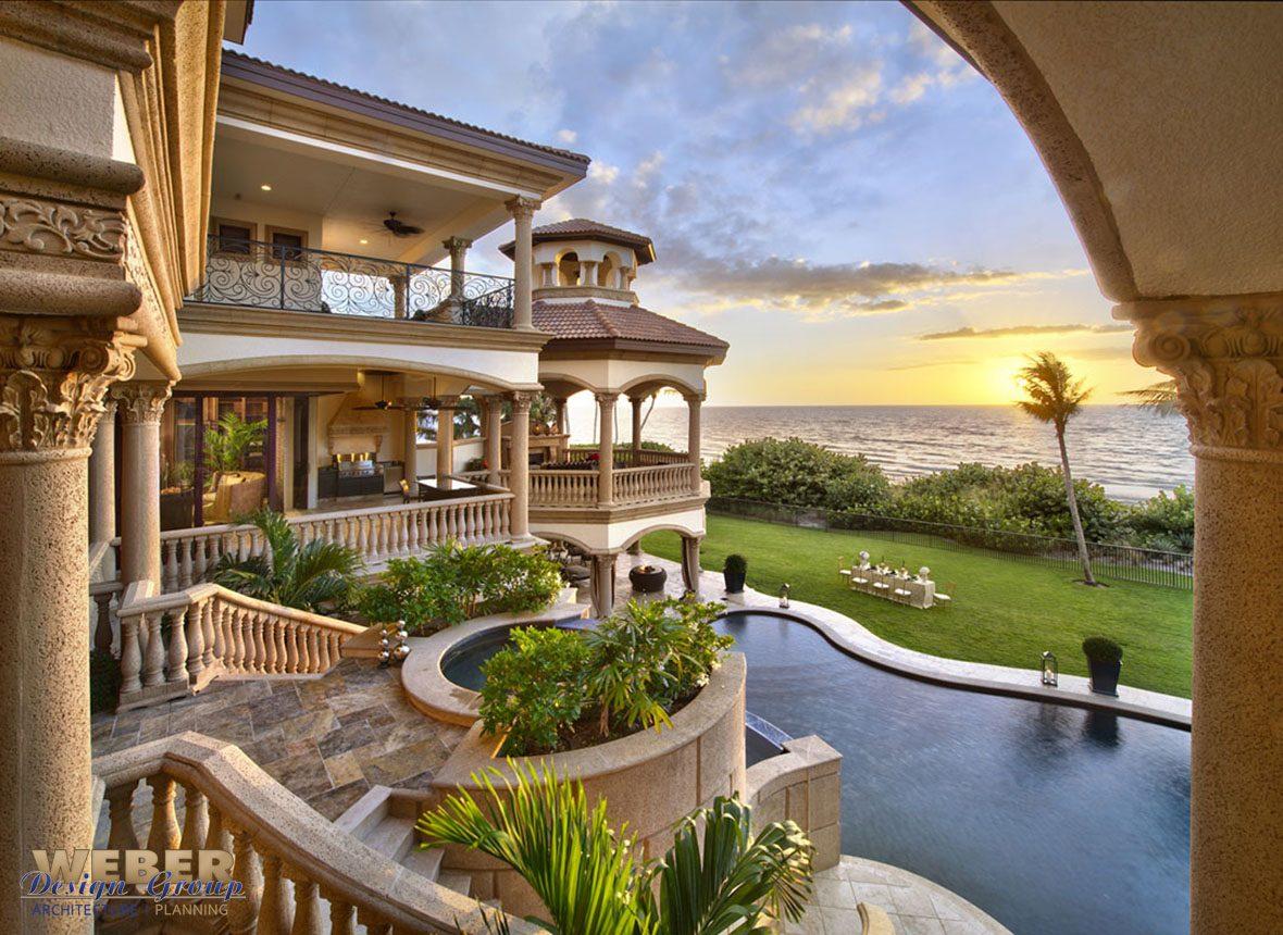 Mediteranean Beachfront Luxury Home Design Weber Design Group Inc Naples Amp Palm Beach Fl