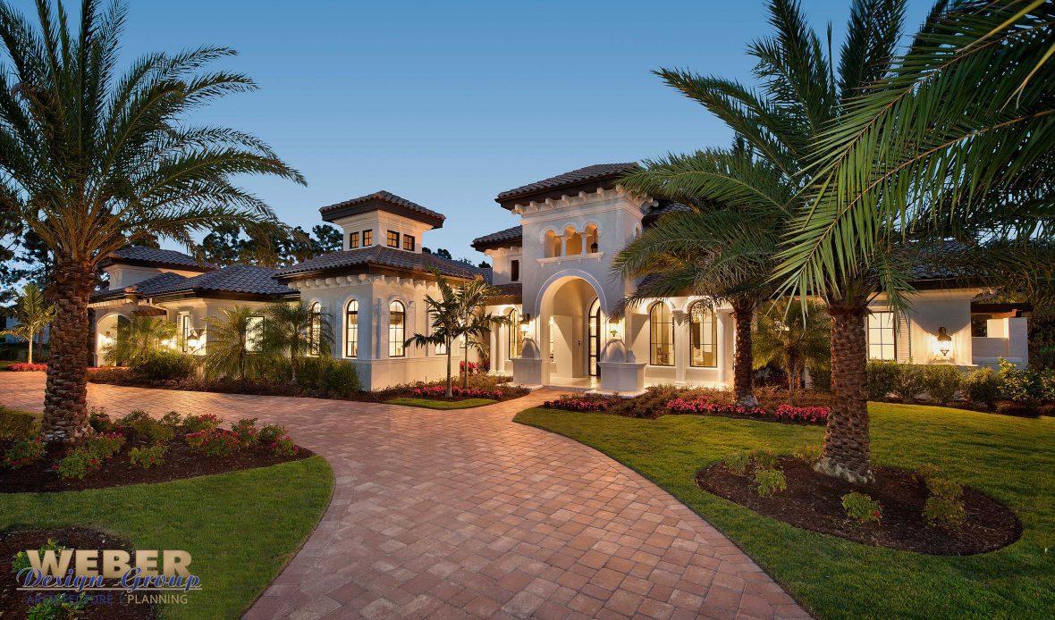 Transitional Mediterranean Courtyard Home Design By Weber