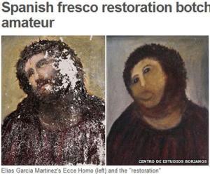 キリストのフレスコ画
